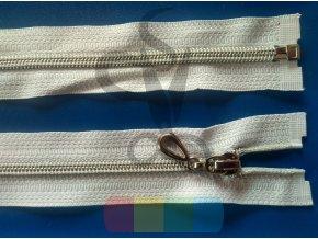 zip spirálový 5 mm bílý se stříbrnou - různé délky