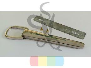 kovový úchyt na kabelkové ucho šroubovací - stříbrný