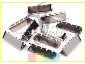 kovové zakončení 40 mm, barva stříbrná