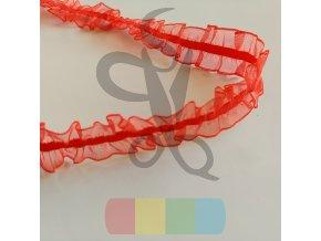 oboustranná pruženka s volánkem 25 mm - více barev