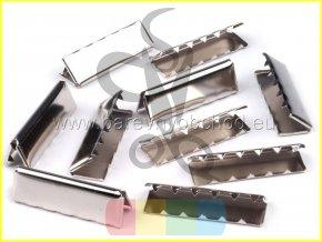 kovové zakončení 30 mm, barva stříbrná