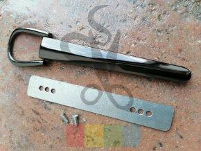 kovový úchyt na kabelkové ucho šroubovací - černý kov