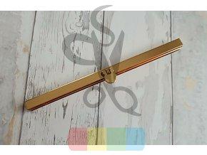 rámeček na výrobu kabelky 1x19 cm vkládací - zlatý