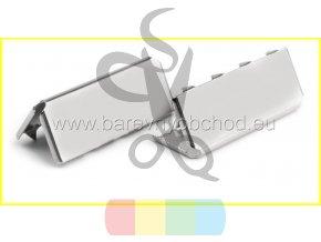 zakončení kovové 25 mm, barva stříbrná