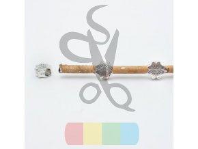 čtyřlístek č.2 pro kulatou šňůru 3 mm - stříbrný