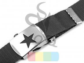spona kovová s hvězdou - stříbrná