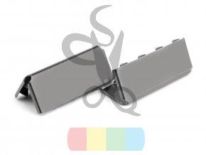 kovové zakončení 25 mm, černý nikl
