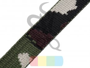 polypropylenový popruh maskáčový - 28 mm