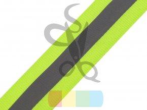 zelená stuha s reflexní vrstvou - šíře 2,5 cm