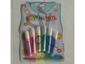 barvy na textil perleťové