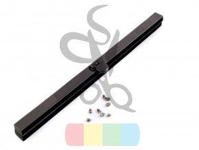 rámeček na výrobu kabelky 1x19 cm vkládací - černý nikl