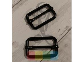 Kovová průvlečná spona pro popruhy 33 mm - černá