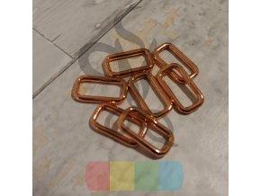 Průvlek 20 mm - růžové zlato