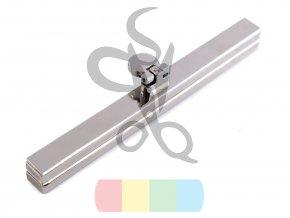 rámeček na výrobu kabelky 1 x 11,5 cm vkládací - stříbrný