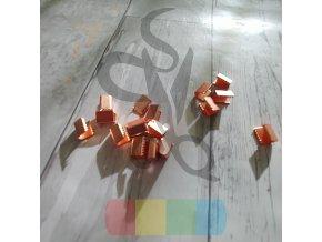 kovové zakončení 10 mm, barva růžové zlato