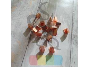 kovové zakončení 15 mm, barva růžové zlato