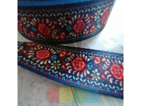 polyesterový popruh 5 cm, vzor pampelišky