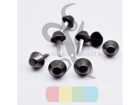 100Pcs 12mm Matal Black Metal Crafts Purse Feet Rivets Studs Pierced for Purse Handbag Punk Rock (1)