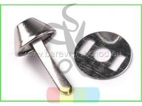 Dvounožkový hřeb (nožky ke kabelce) - větší - nikl