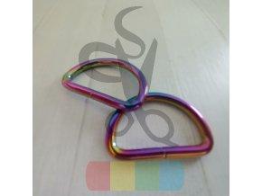 kovový polokroužek 35 mm - duhový
