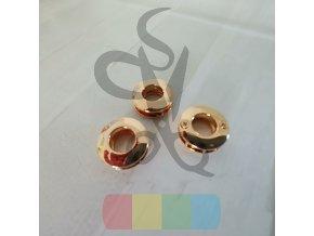 šroubovací průchodka 10 mm  - zlatá