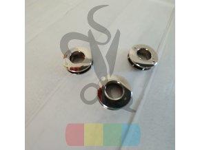 šroubovací průchodka 10 mm  - stříbrná