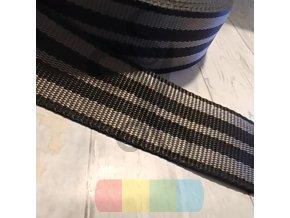 polypropylenový popruh barevný šedá-šedá - 50 mm