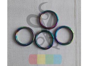 kroužek 20 mm - duhový