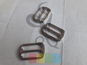 Kovová průvlečná spona pro popruhy 30 mm - stříbrná