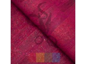 korek - korková látka v barvě červené