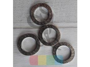 kroužek ozdobný 12 mm - stříbrný