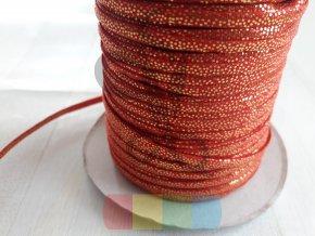 dutinka červená se zlatými tečkami - 5 mm