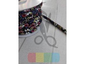 koženková šňůra kulatá šňůra 6 mm barevné kytičky