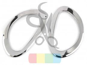 kovová ucha na tašku - půlkruh
