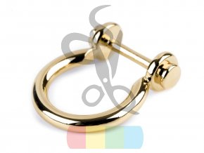 průvlek ozdobný 17 mm  - zlatý