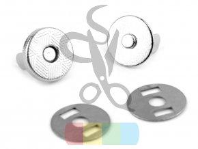magnetické zapínání průměr 10 mm stříbrné