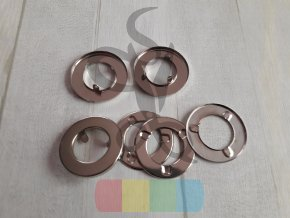 průchodka zacvakávací 20 mm  - stříbrná