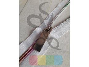 jezdec k metrážovému spirálovému zipu 5 mm - stříbrný - dlouhý obdélník