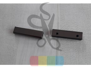 kovový okraj na tašku nebo peněženku - černý nikl