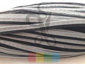 paspulka/kédr - šedá na černé -  reflexní