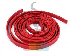 koženkový popruh 1 x 120 cm - polotovar - červený