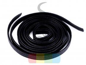 koženkový popruh 1 x 120 cm - polotovar - černý