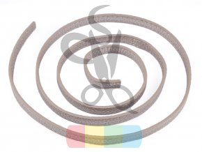 koženkový popruh 1 x 120 cm - polotovar - stříbrný