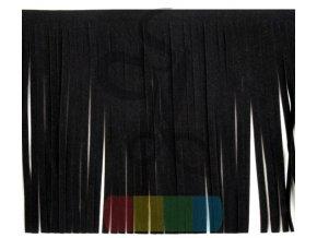 třásně z eko kůže - 15 cm - barva černá