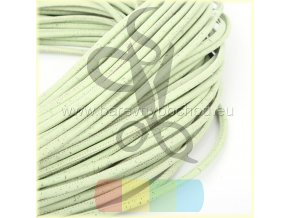 korková šňůra kulatá, průměr 5 mm - světle zelená