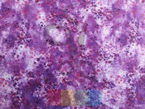 bavlněná látka -  tón v tónu  - fialová