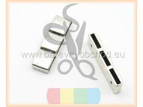 spojka trojitá pro plochý pásek 10 mm - stříbrná