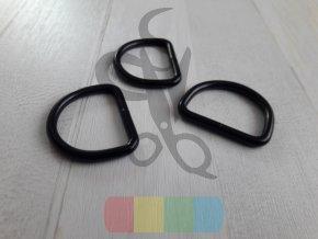 černý kov - polokroužek 30 mm