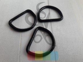 černý kov - polokroužek 40 mm