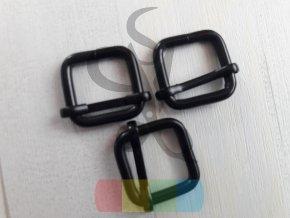 černý kov - zkracovač pro popruhy 20 mm